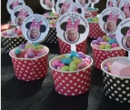 Personalized Mini Mouse themed birthday party